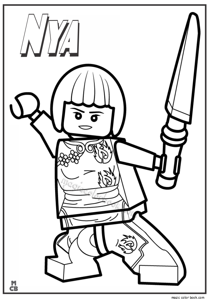 685x975 Ninjago Lego Coloring Pages Nya Basement Lego