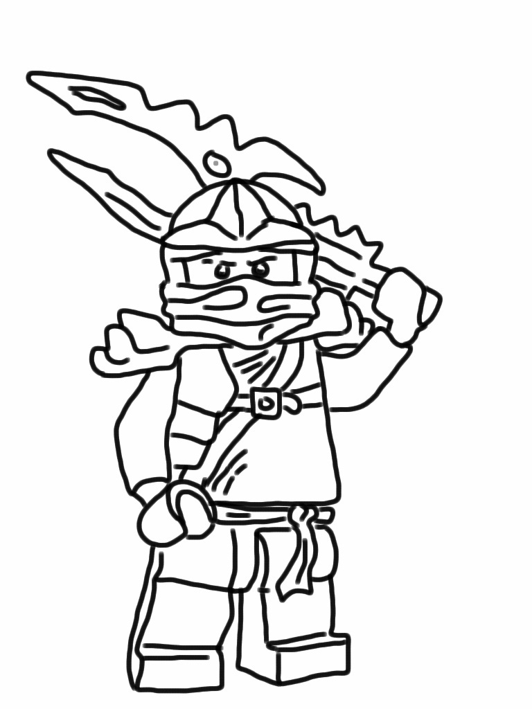 Ninjago lloyd drawing at free for for Ninjago green ninja coloring pages