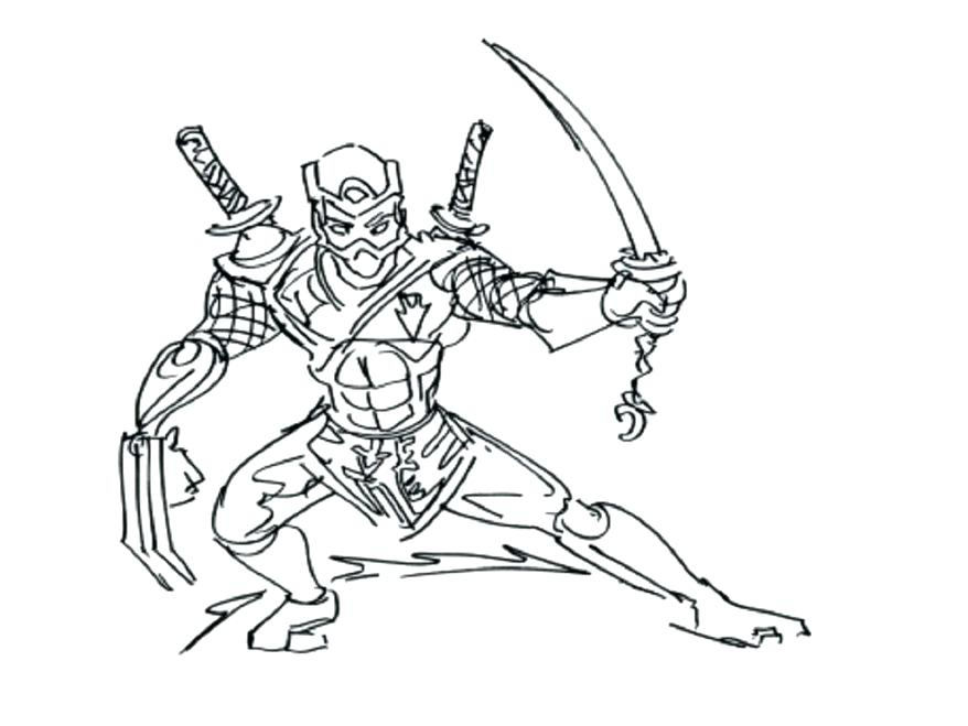 zombie ninja turtle coloring pages - photo#48
