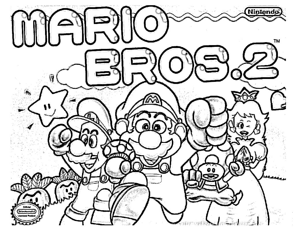 1056x816 Mario Bros Kart Coloring Pages