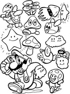236x316 Nintendo Coloring Pages Characters