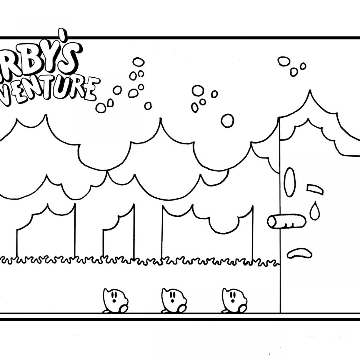 1224x1224 Kirby Coloring Pages For Kids To Print Free From Nintendo Color