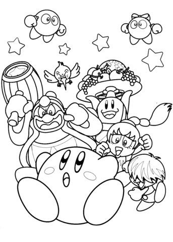 343x480 Nintendo Kirby Coloring Page Free Printable Coloring Pages