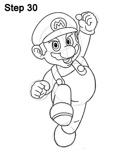 404x523 Super Mario Full Body Drawing 30 Drawing Body