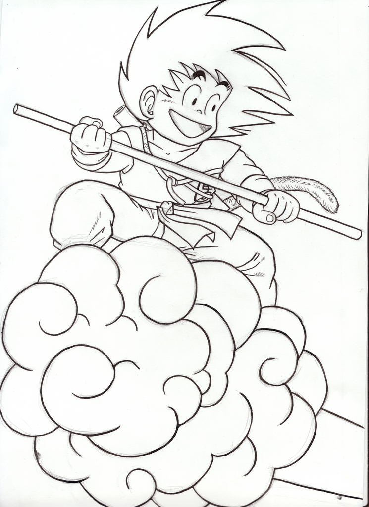 745x1024 The World's Newest Photos Of Draw And Goku