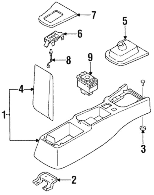 nissan 240sx drawing at getdrawings free for personal use CRX Wiring-Diagram 504x640 nissan 240sx shift boot and bezel 1995 1998 oem manual