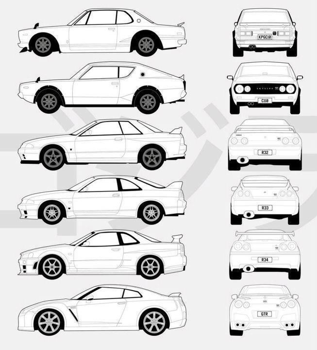 Nissan 240sx Drawing At Getdrawings Com
