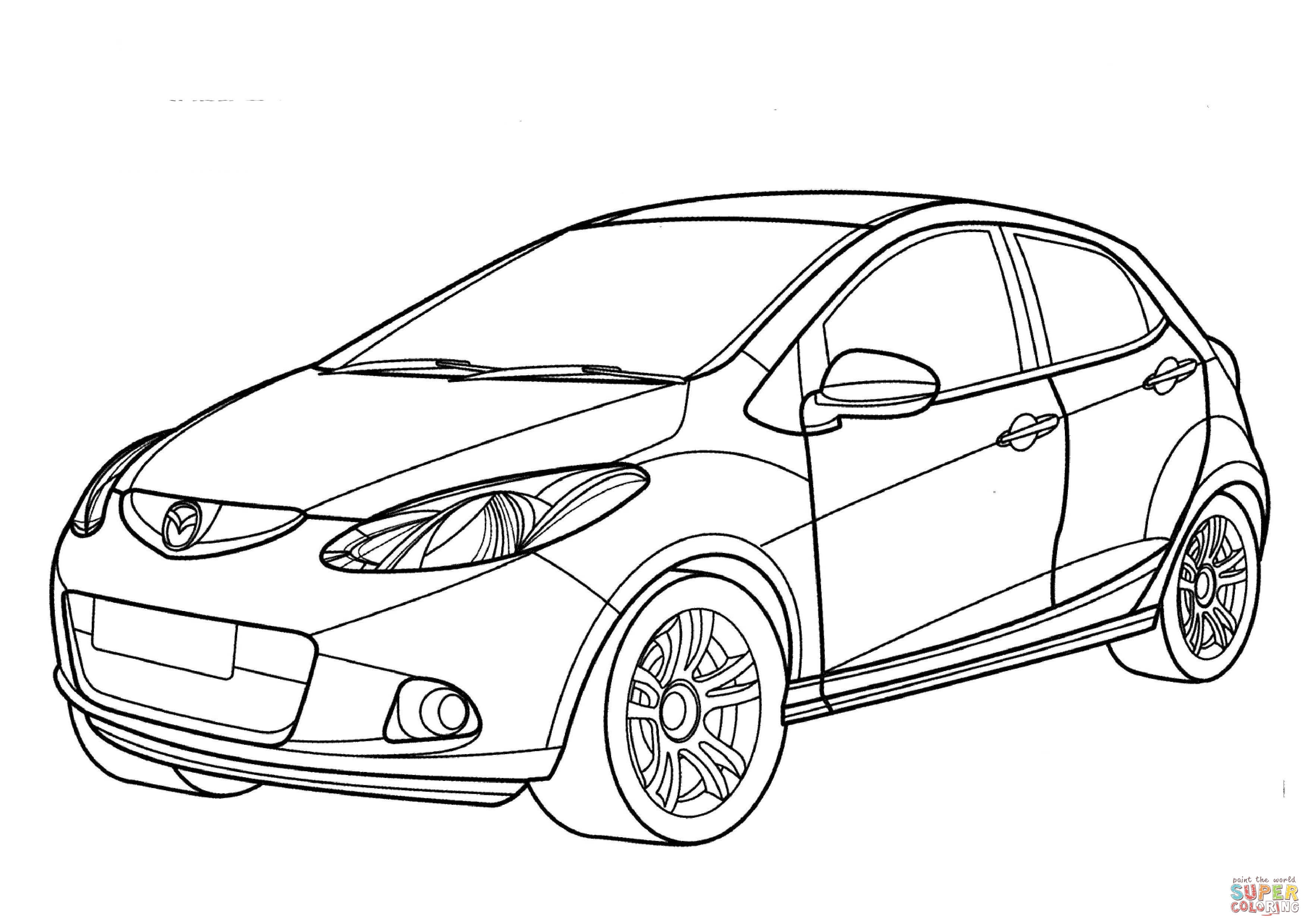 3508x2480 Minivan Coloring Page Nissan Cure Minivan Coloring Page Nissan
