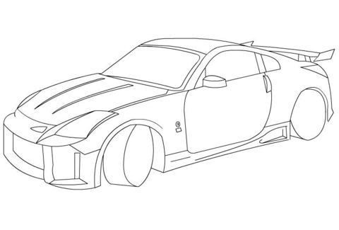 480x325 Nissan 350z Coloring Page Free Printable Coloring Pages