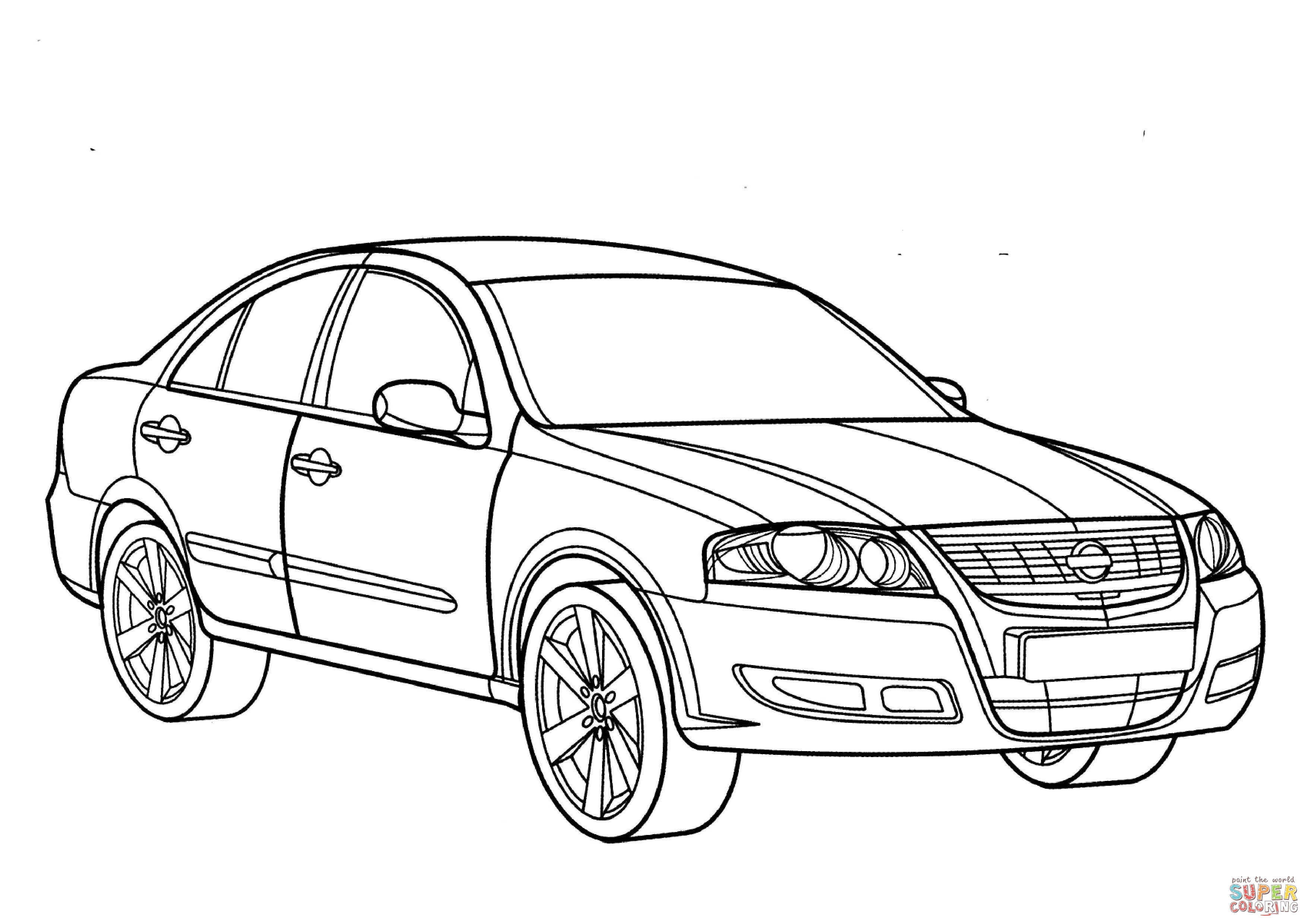3508x2480 Nissan Almera Coloring Page Free Printable Coloring Pages