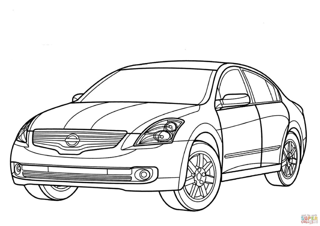 1024x724 Nissan Altima Hybrid Coloring Page Free Printable Coloring Pages