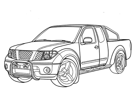 480x339 Nissan Navara Coloring Page Free Printable Coloring Pages