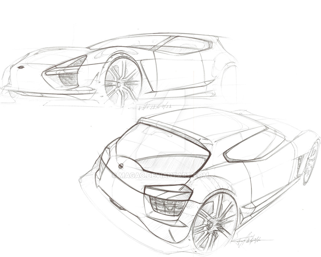 1024x819 Nissan Sketch By Magao