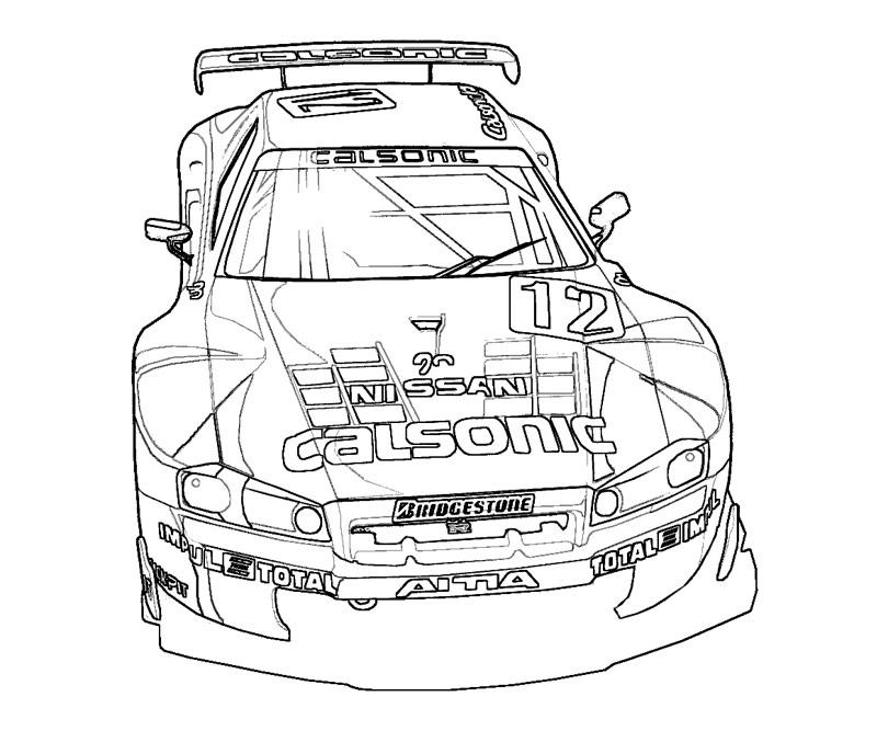 Nissan Gtr Drawing At GetDrawings.com