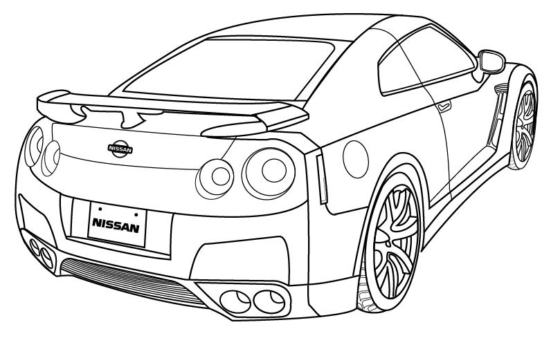 Line Drawing Nissan Gtr : Nissan skyline drawing at getdrawings free for