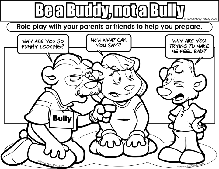 720x554 coloring be buddy not bully