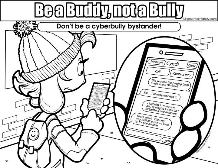 free stop bullying coloring pages | No Bullying Drawing at GetDrawings.com | Free for personal ...