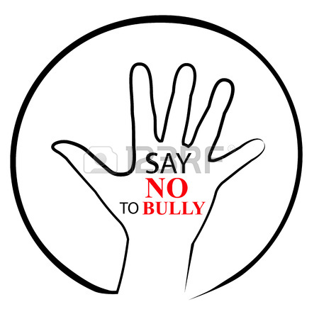450x450 Sign, No Bully, At Transparent Effect Background Stock Photo