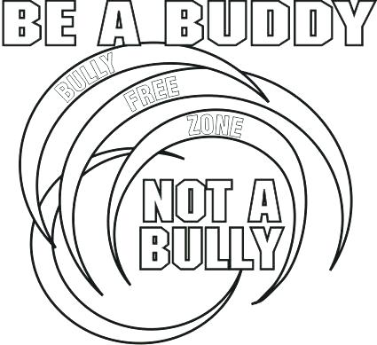 425x389 Free Printable Anti Bullying Coloring Pages