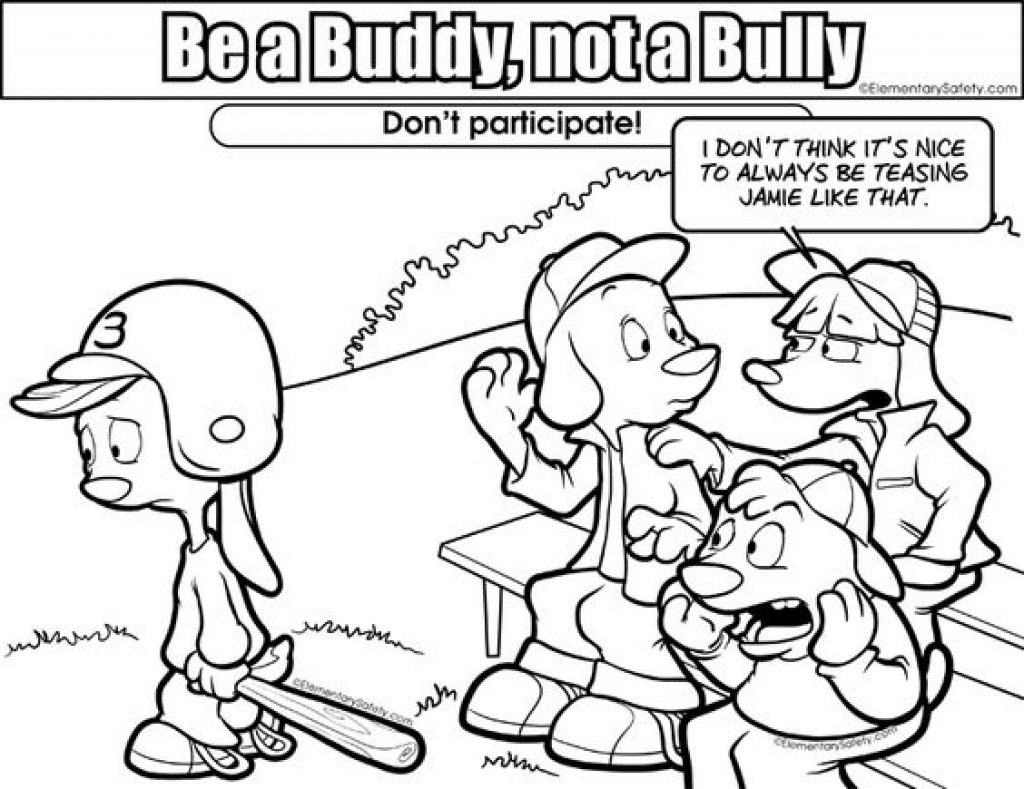 1024x789 Bullying Coloring Pages Paginone Anti For Kids Cyber Sheets Stop