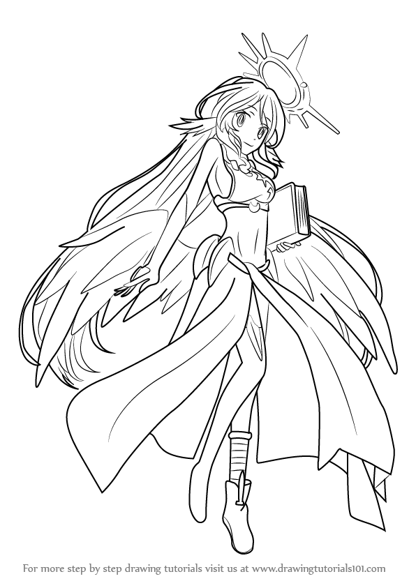 596x843 Learn How To Draw Jibril From No Game No Life (No Game No Life