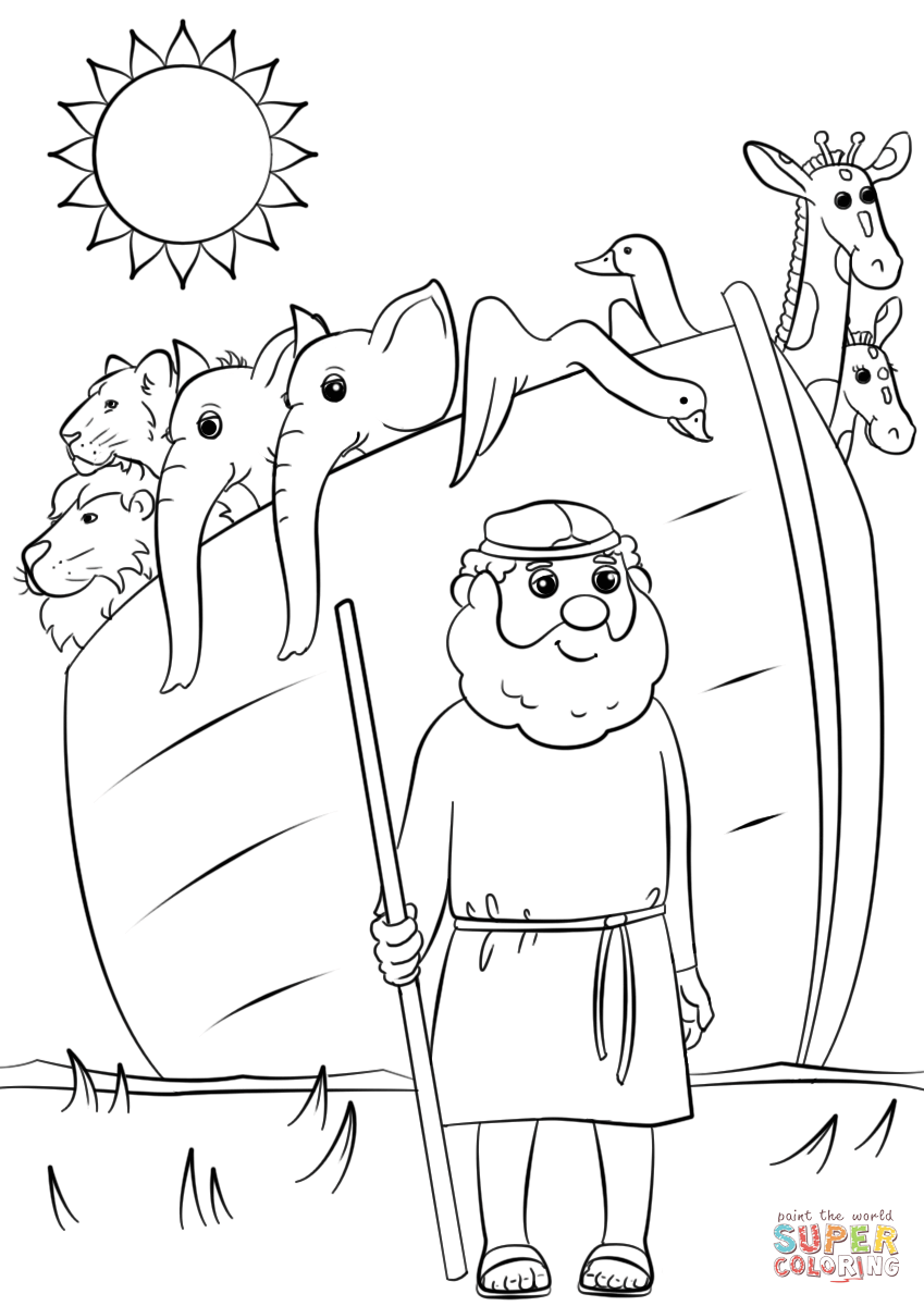 849x1200 Noah's Ark Animals Two By Two Coloring Page Free Printable