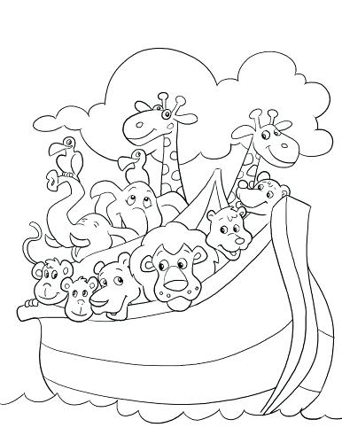 386x500 Noah And Ark Coloring Pages Ark Coloring Page Noahs Ark Coloring