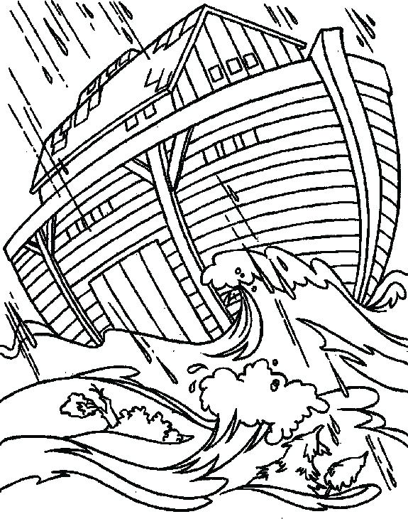 575x730 Noah Ark Coloring Pages Preschool Also Ark Coloring Pages Noahs
