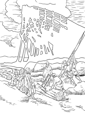 360x480 Noah Building Ark Coloring Page Free Printable Coloring Pages