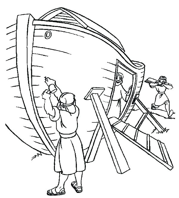 600x663 Noah Coloring Pages Ark Coloring Page Line Drawings Online Ark