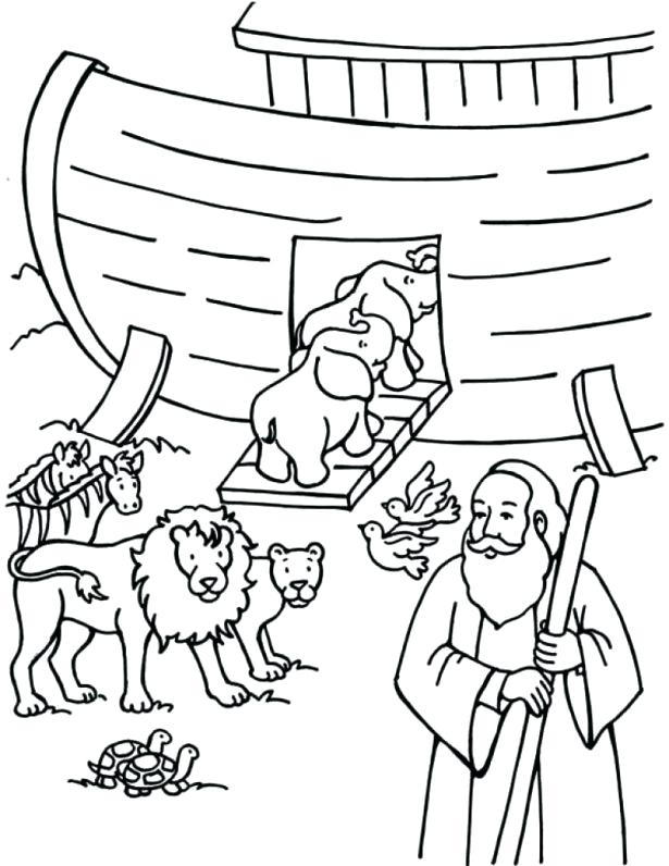 615x796 Noahs Ark Coloring Pages