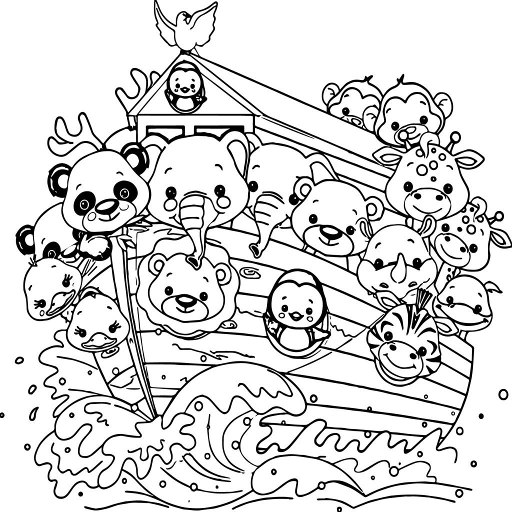 1024x1024 Stunning More Of Noah Coloring Page Posts Ark For S Popular
