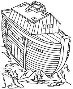 236x287 Noah's Ark Coloring Page 06 Kid Stuff Sunday