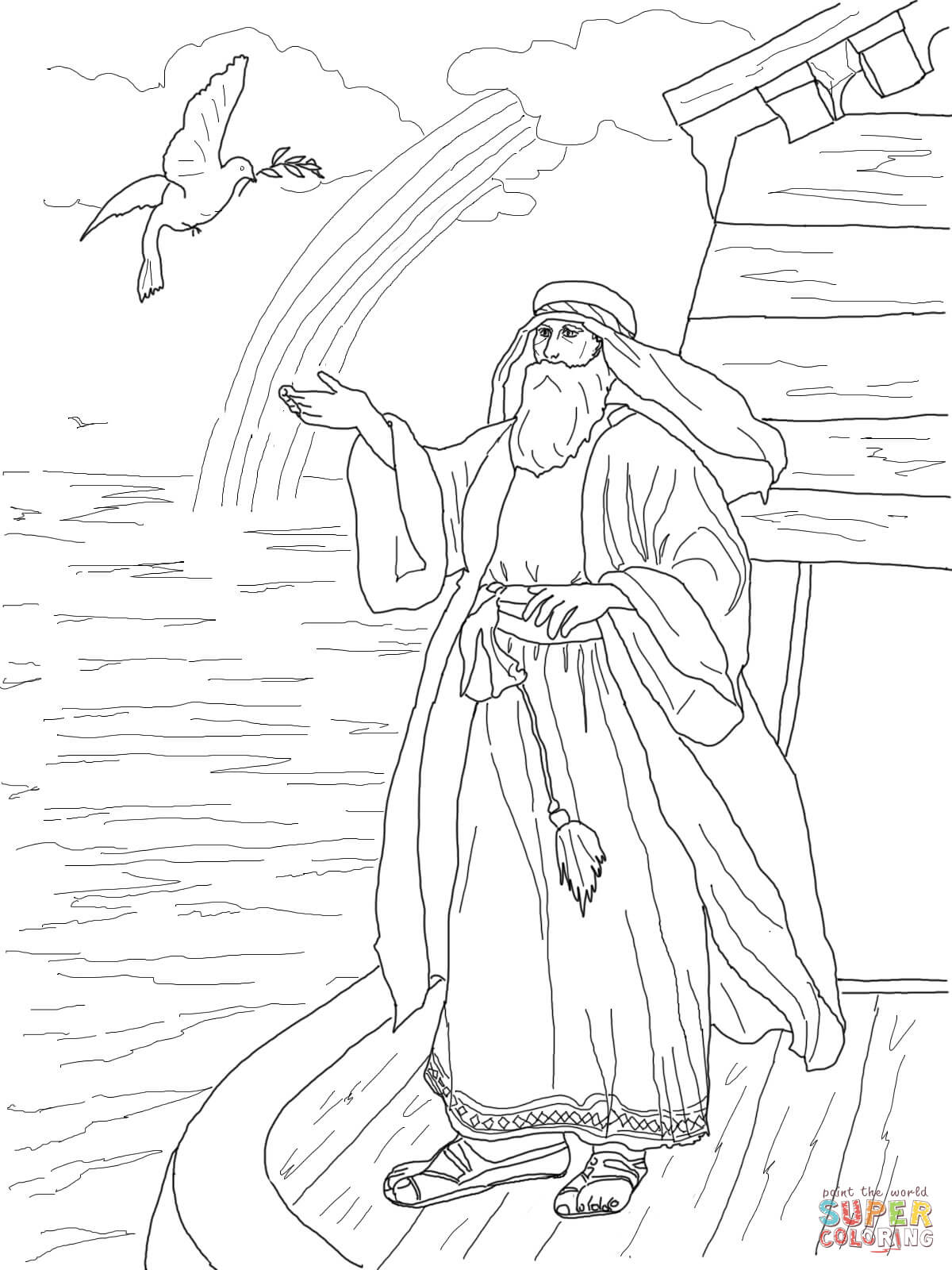 1200x1600 Noah's Dove Returns With The Olive Leaf Coloring Page Free