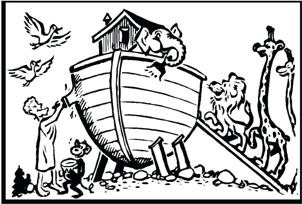1024x692 Noah Ark Coloring Pages Colouring For Good Draw Pict Kids