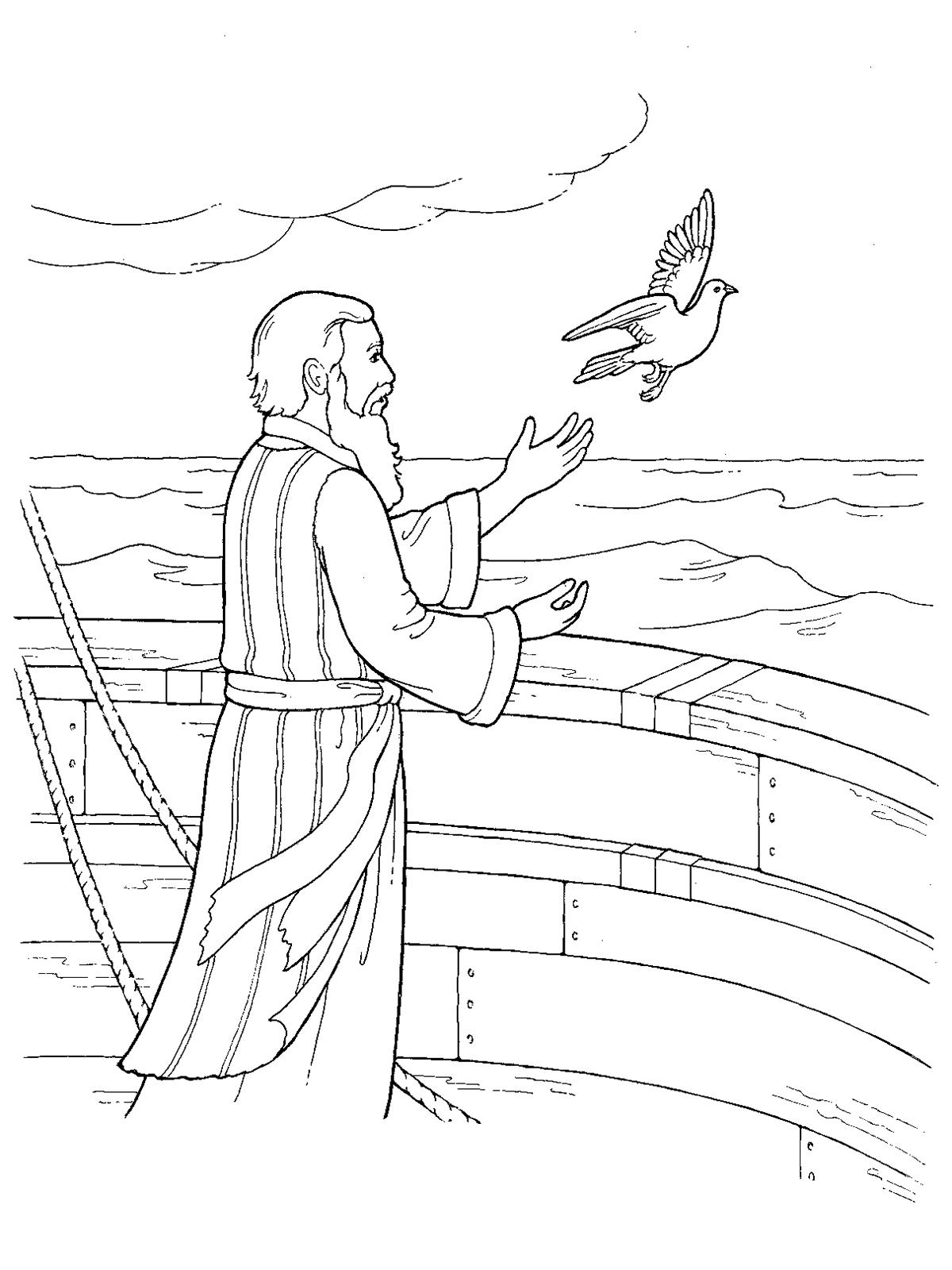 1200x1600 Noah Releasing A Dove