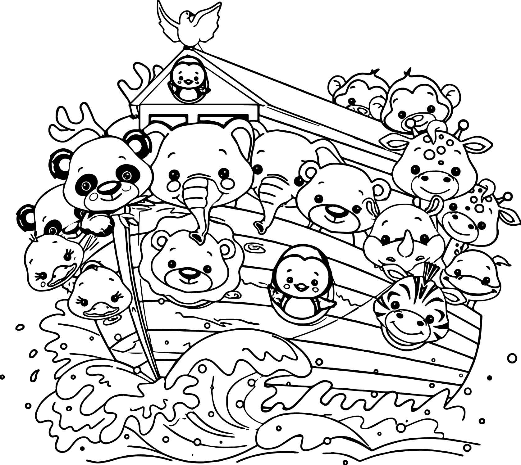 Revered image throughout noah's ark printable coloring pages