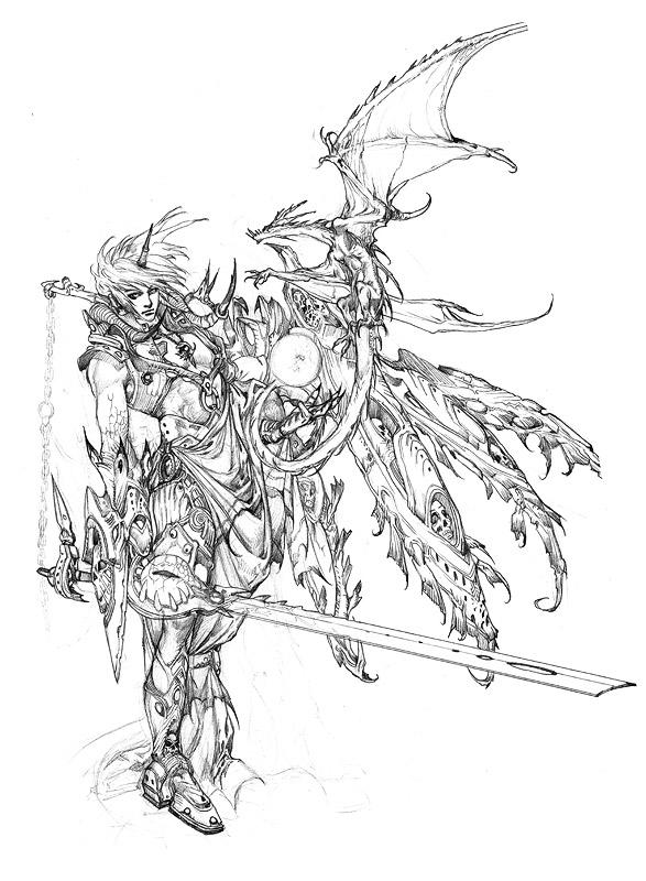 587x800 Moon.fighter Sketch. By Noah Kh