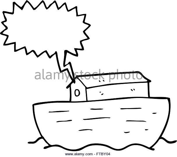 608x540 Freehand Drawn Cartoon Noahs Ark Stock Photos Amp Freehand Drawn