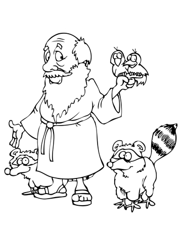 360x480 Noah's With Animals Coloring Page Free Printable Coloring Pages
