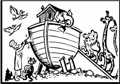 476x333 Noah And The Ark Coloring Pages To Print Rainbow Page