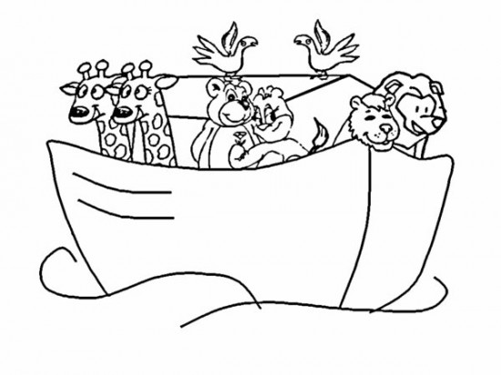 550x412 Noah Ark Bible Coloring Pages Free Printable Bebo Pandco