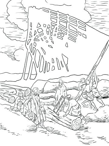 360x480 Noah Ark Coloring Page Ark Simple Drawing Coloring Page Noahs Ark