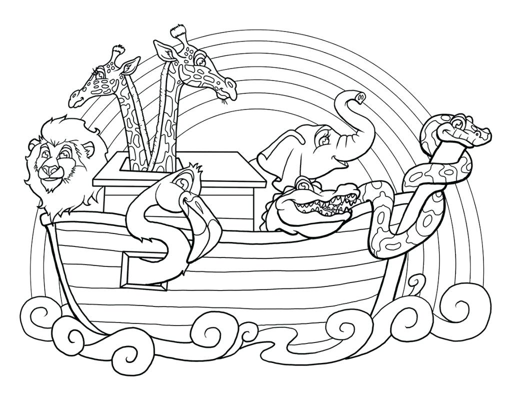 1024x790 Coloring Noahs Ark Coloring Pages Good For Line Drawings