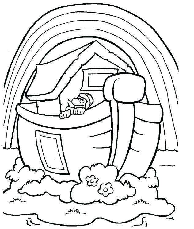 633x746 Noahs Ark Coloring Pages Printable