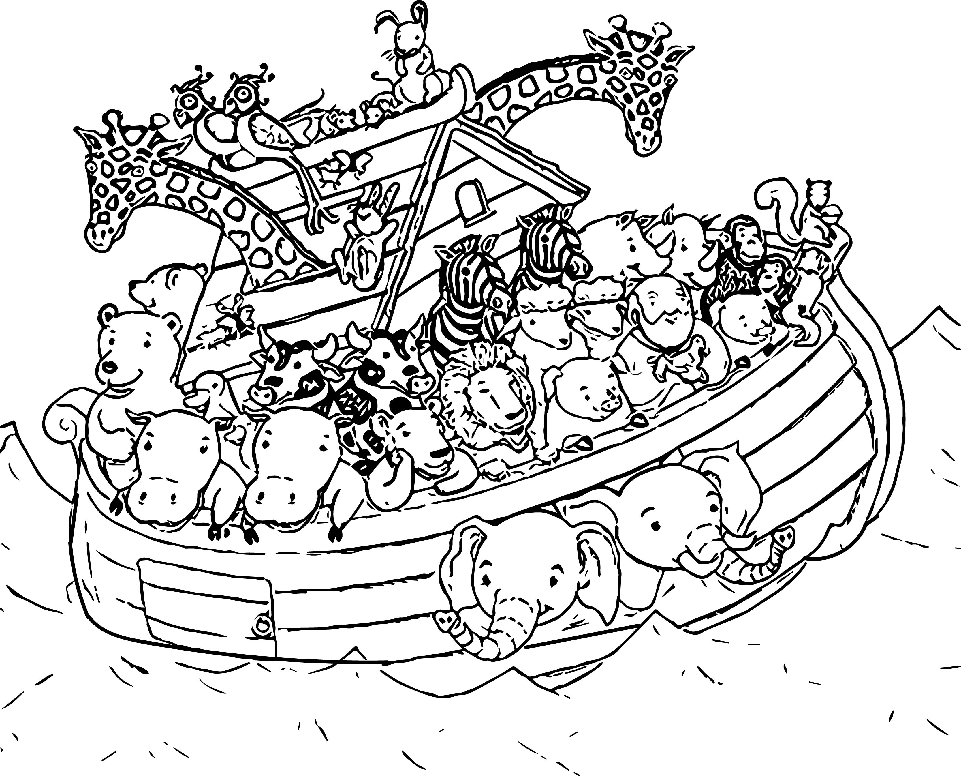 3333x2690 Coloring Noah's Ark Coloring Book Pages As Well As Noah's Ark