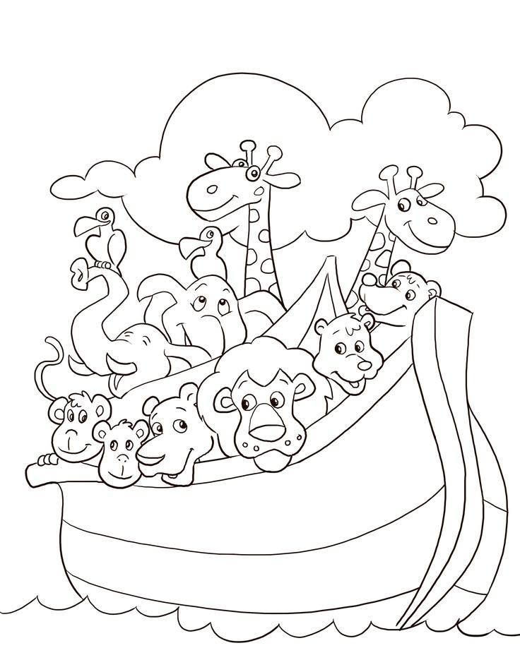 736x952 Coloring Noah's Ark Coloring Page Plus Noah Built The Ark