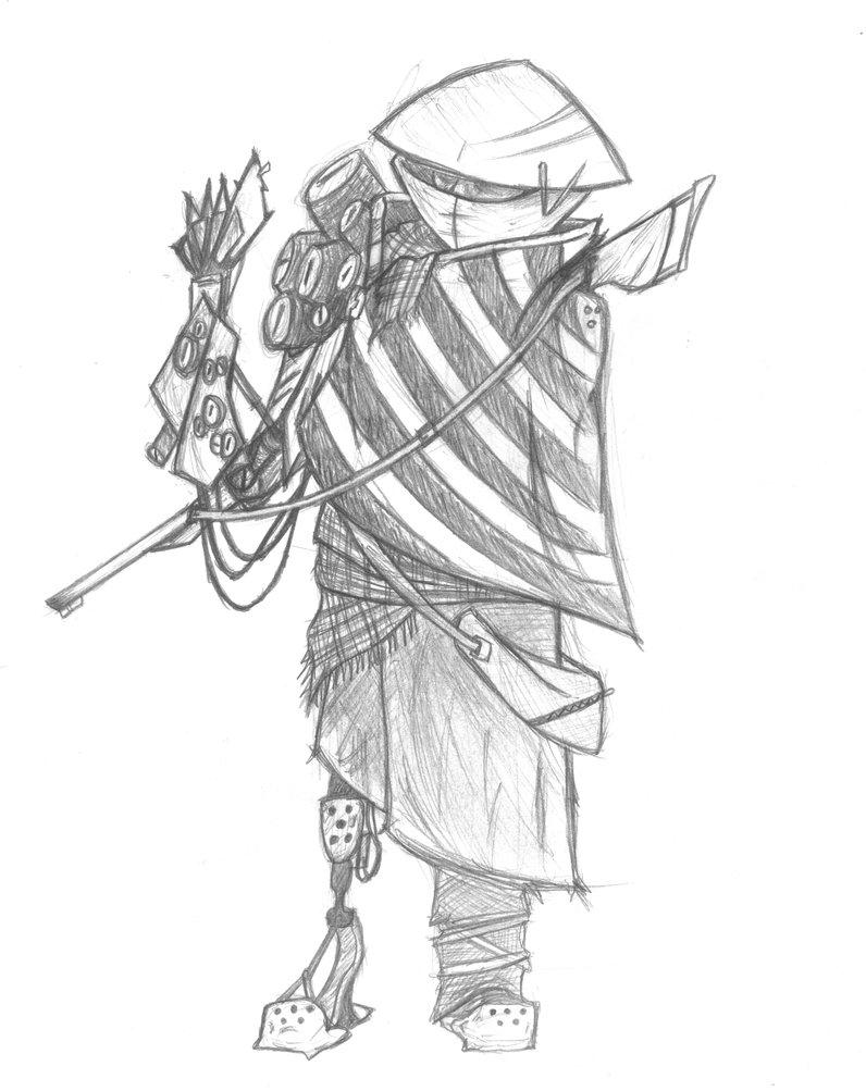 796x1003 Cyberpunk Nomad, sketch 01 by Skyrmix on DeviantArt