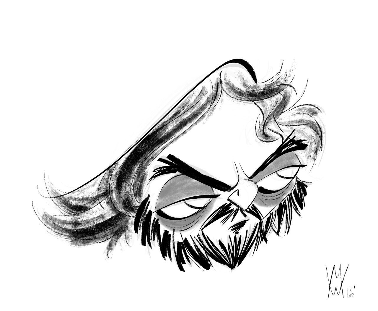 1280x1052 Hand Drawn Nomad A Caricature Of The Great Stanley Kubrick Done