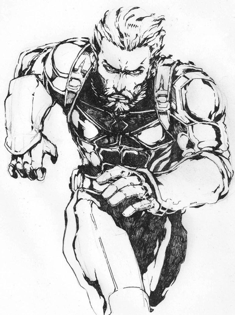 772x1034 Infinity War#39s Nomad Metal Gear Solid Style by Rodjim marvelstudios